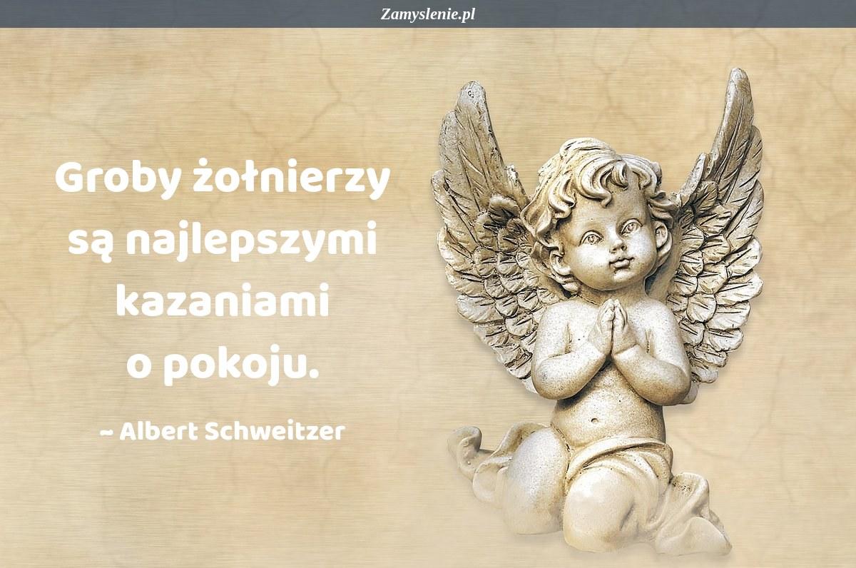 Obraz / mem do cytatu: Groby żołnierzy są najlepszymi kazaniami o pokoju.