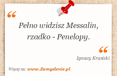 Obraz / mem do cytatu: Pełno widzisz Messalin, rzadko - Penelopy.
