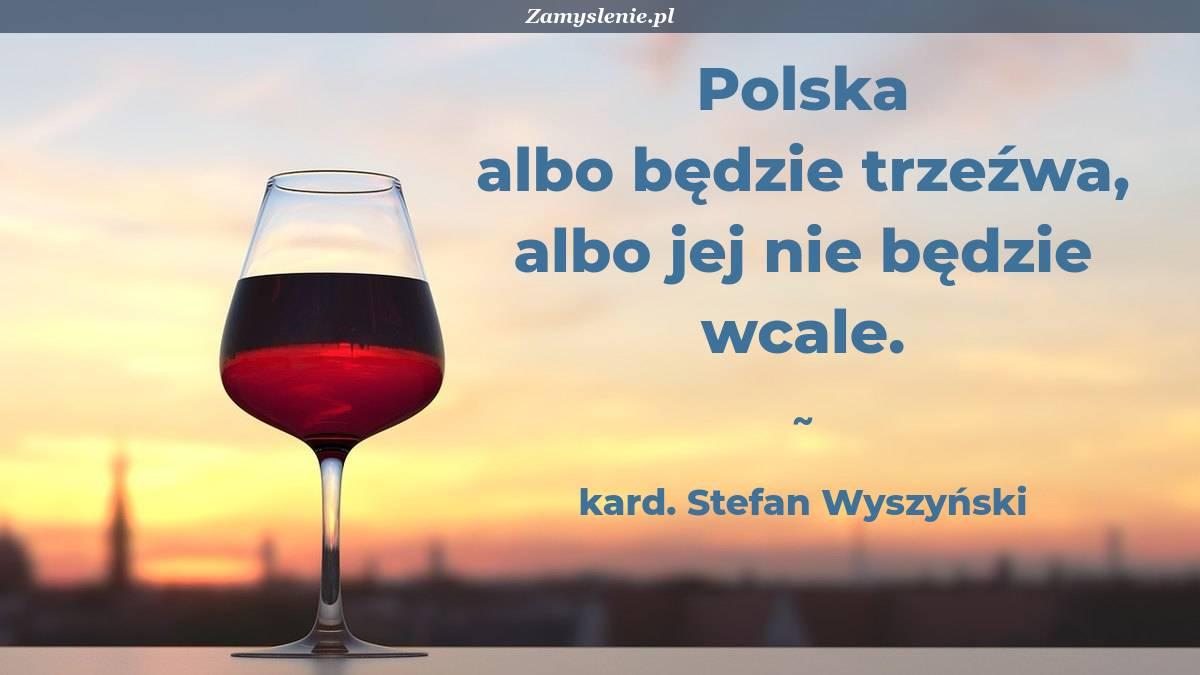 Obraz / mem do cytatu: Polska albo będzie trzeźwa, albo jej nie będzie wcale.