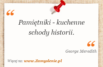 Obraz / mem do cytatu: Pamiętniki - kuchenne schody historii.