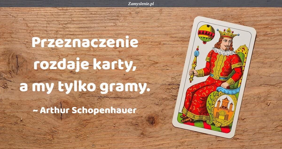 Obraz / mem do cytatu: Przeznaczenie rozdaje karty, a my tylko gramy.