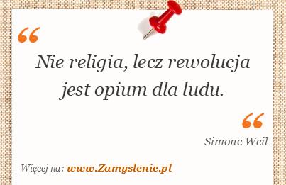 Obraz / mem do cytatu: Nie religia, lecz rewolucja jest opium dla ludu.