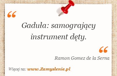 Obraz / mem do cytatu: Gaduła: samogrający instrument dęty.
