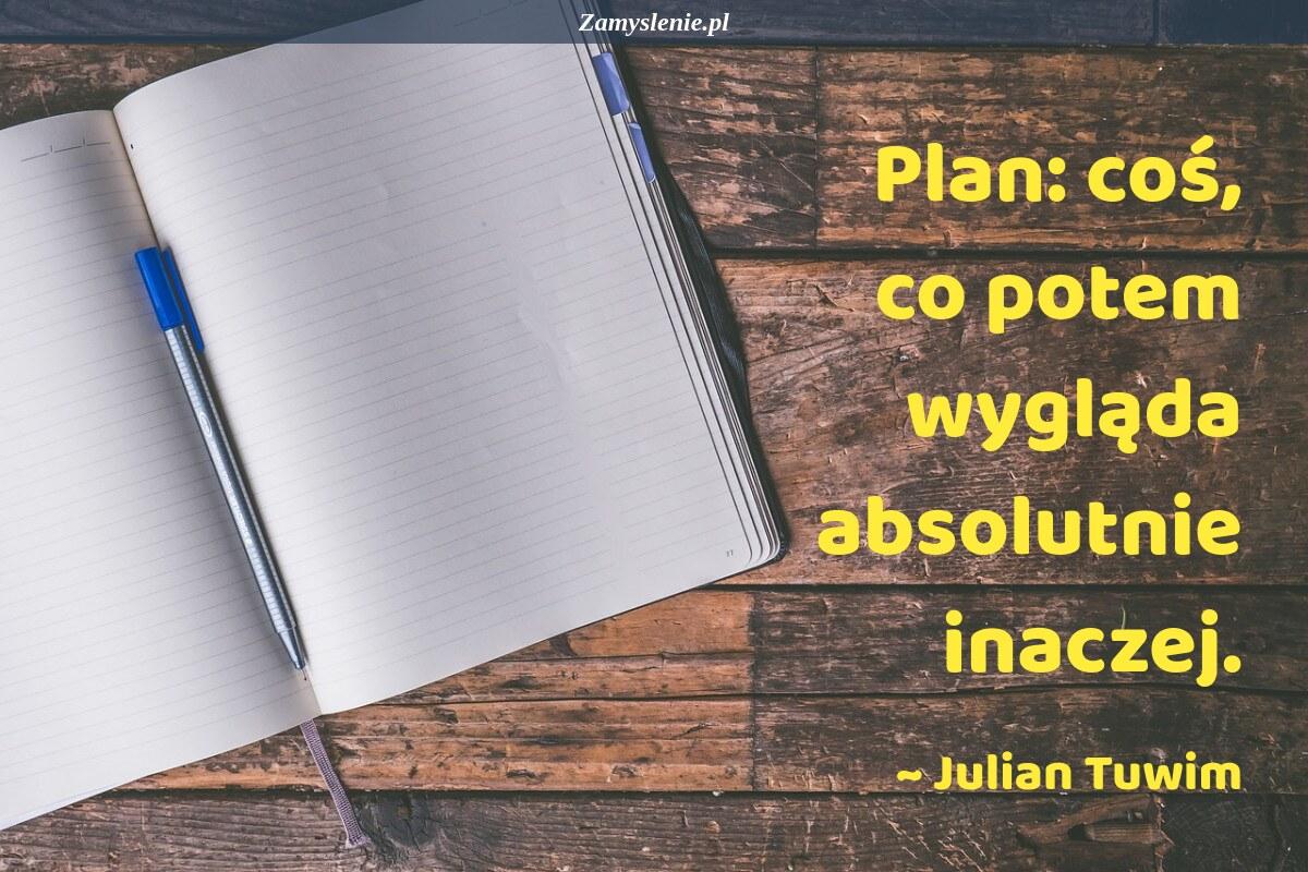 Obraz / mem do cytatu: Plan: coś, co potem wygląda absolutnie inaczej.