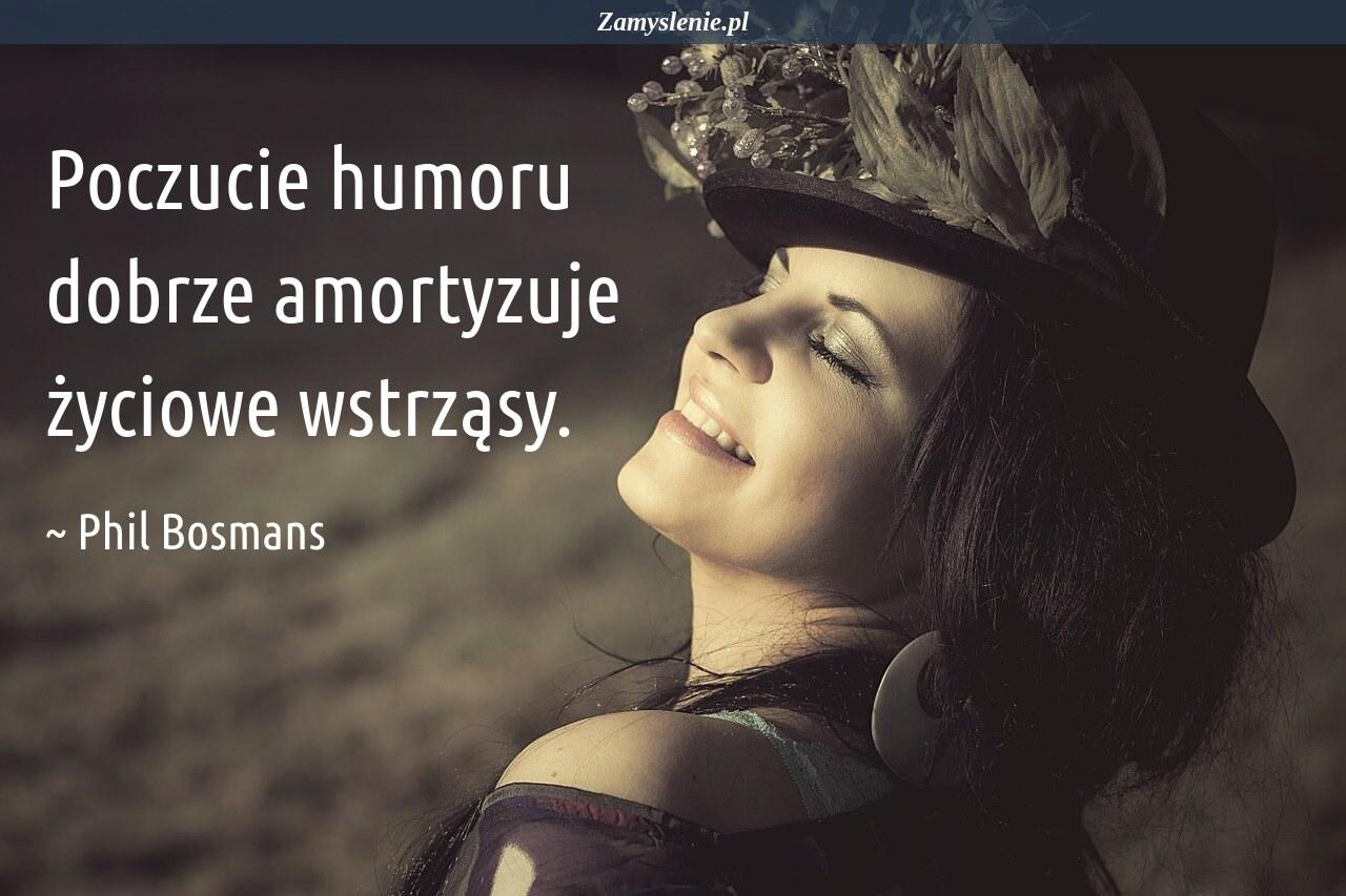 Obraz / mem do cytatu: Poczucie humoru dobrze amortyzuje życiowe wstrząsy.