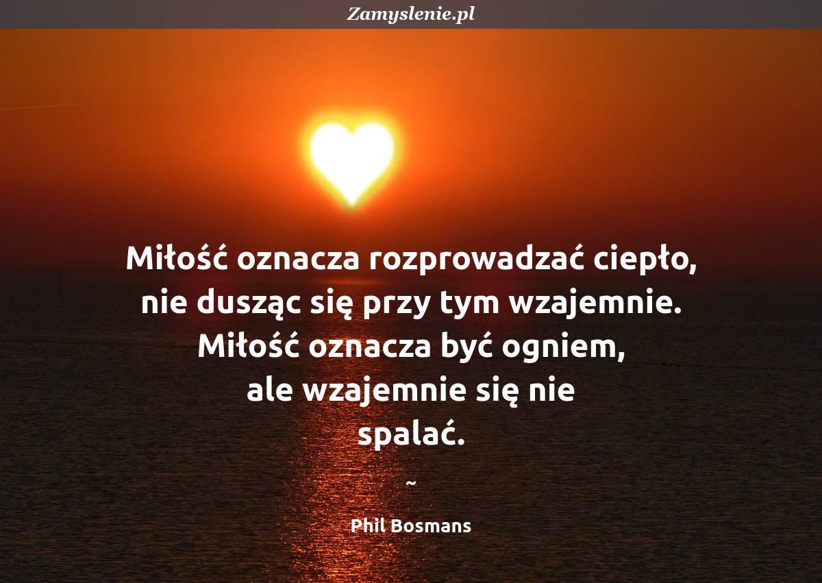 Obraz / mem do cytatu: Miłość oznacza rozprowadzać ciepło, nie dusząc się przy tym wzajemnie. Miłość oznacza być ogniem, ale wzajemnie się nie spalać.