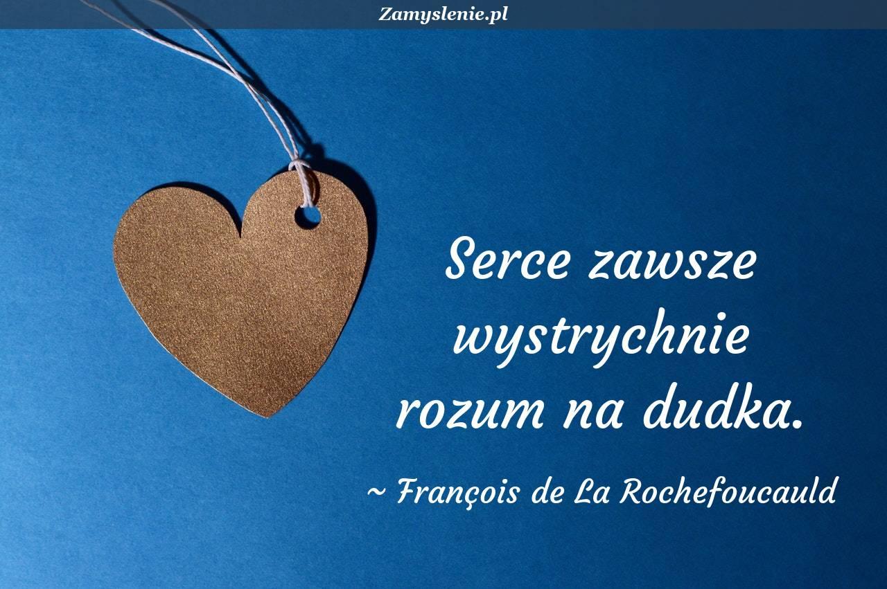 Obraz / mem do cytatu: Serce zawsze wystrychnie rozum na dudka.
