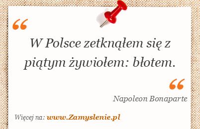 Obraz / mem do cytatu: W Polsce zetknąłem się z piątym żywiołem: błotem.