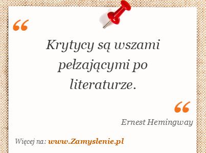 Obraz / mem do cytatu: Krytycy są wszami pełzającymi po literaturze.