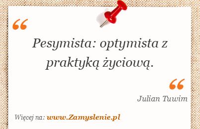 Obraz / mem do cytatu: Pesymista: optymista z praktyką życiową.