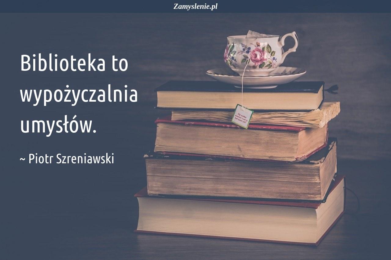 Obraz / mem do cytatu: Biblioteka to wypożyczalnia umysłów.