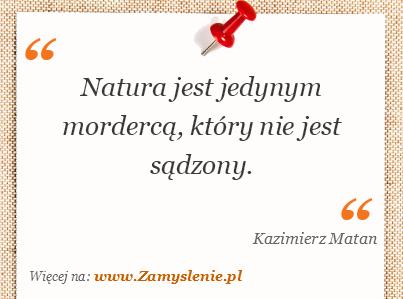 Obraz / mem do cytatu: Natura jest jedynym mordercą, który nie jest sądzony.