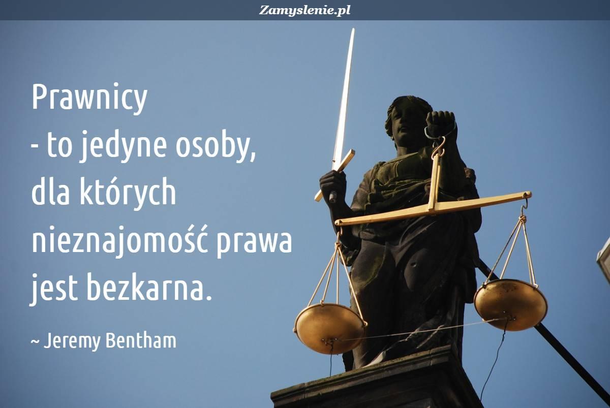 Obraz / mem do cytatu: Prawnicy - to jedyne osoby, dla których nieznajomość prawa jest bezkarna.