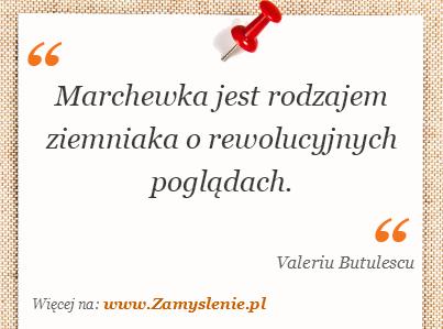Obraz / mem do cytatu: Marchewka jest rodzajem ziemniaka o rewolucyjnych poglądach.