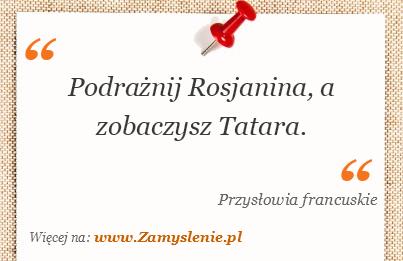 Obraz / mem do cytatu: Podrażnij Rosjanina, a zobaczysz Tatara.