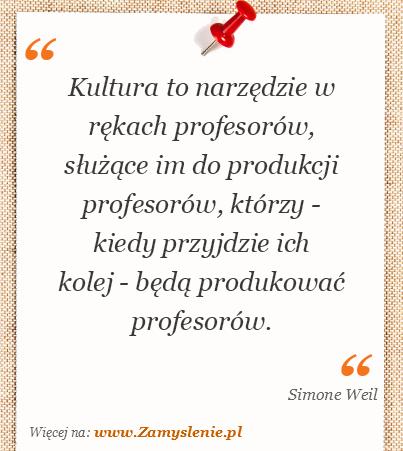 Obraz / mem do cytatu: Kultura to narzędzie w rękach profesorów, służące im do produkcji profesorów, którzy - kiedy przyjdzie ich kolej - będą produkować profesorów.