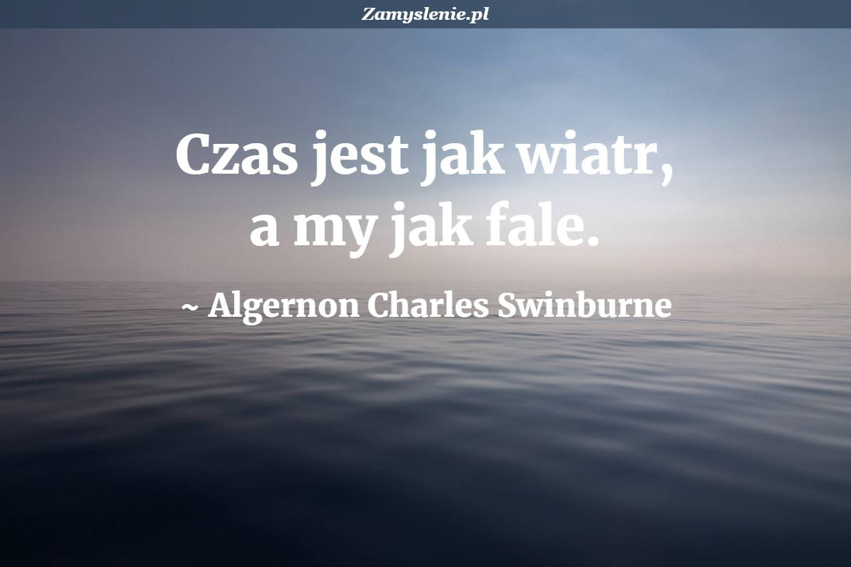 Obraz / mem do cytatu: Czas jest jak wiatr, a my jak fale.