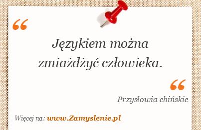 Obraz / mem do cytatu: Językiem można zmiażdżyć człowieka.