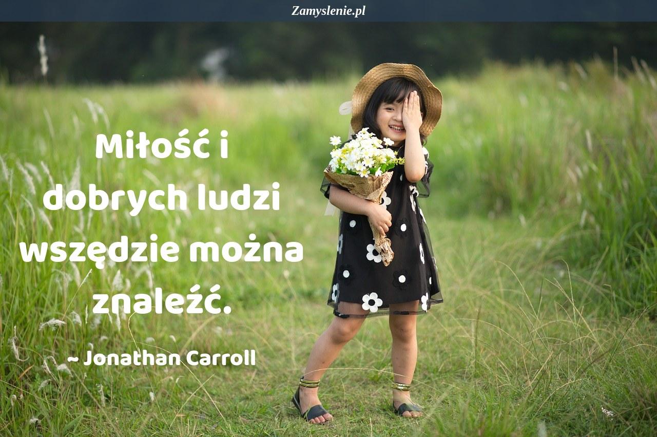 Obraz / mem do cytatu: Miłość i dobrych ludzi wszędzie można znaleźć.