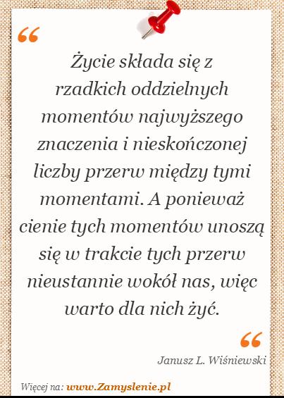 Janusz L Wiśniewski Cytaty Tego Autora Zamysleniepl