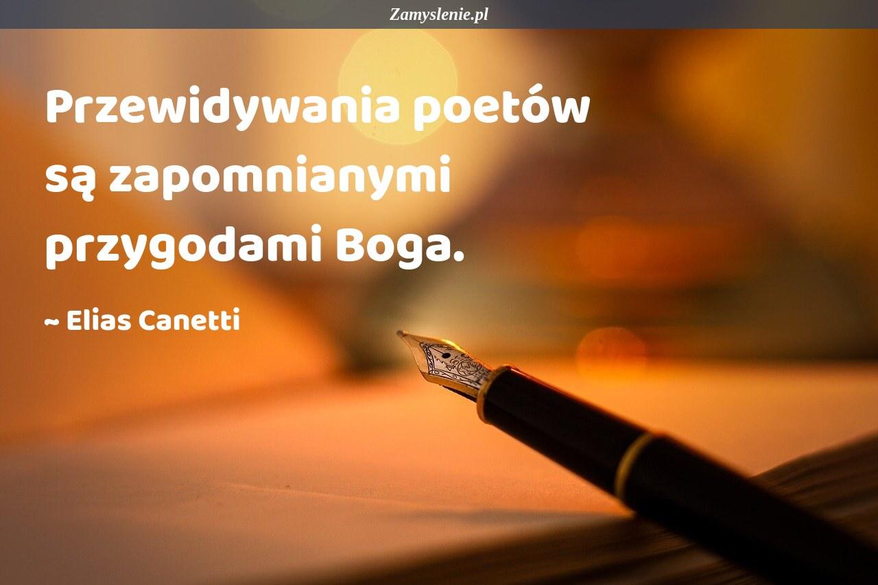 Obraz / mem do cytatu: Przewidywania poetów są zapomnianymi przygodami Boga.