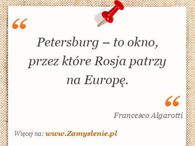 Obraz / mem do cytatu: Petersburg – to okno, przez które Rosja patrzy na Europę.
