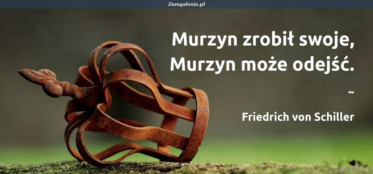 Obraz / mem do cytatu: Murzyn zrobił swoje, Murzyn może odejść.