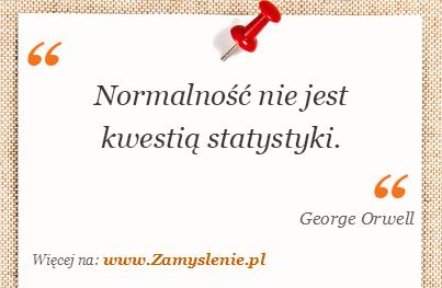 Obraz / mem do cytatu: Normalność nie jest kwestią statystyki.
