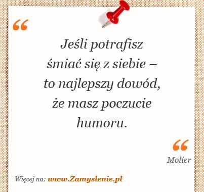 Obraz / mem do cytatu: Jeśli potrafisz śmiać się z siebie – to najlepszy dowód, że masz poczucie humoru.