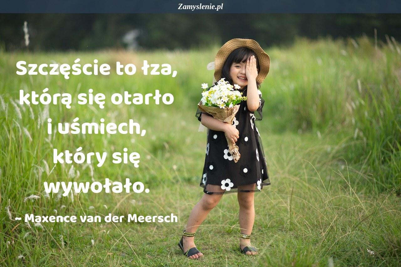 Obraz / mem do cytatu: Szczęście to łza, którą się otarło i uśmiech, który się wywołało.