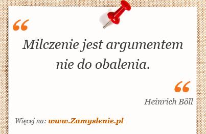 Obraz / mem do cytatu: Milczenie jest argumentem nie do obalenia.