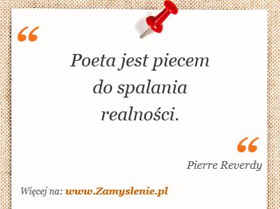 Obraz / mem do cytatu: Poeta jest piecem do spalania realności.
