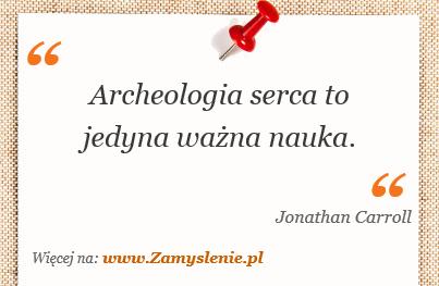 Obraz / mem do cytatu: Archeologia serca to jedyna ważna nauka.