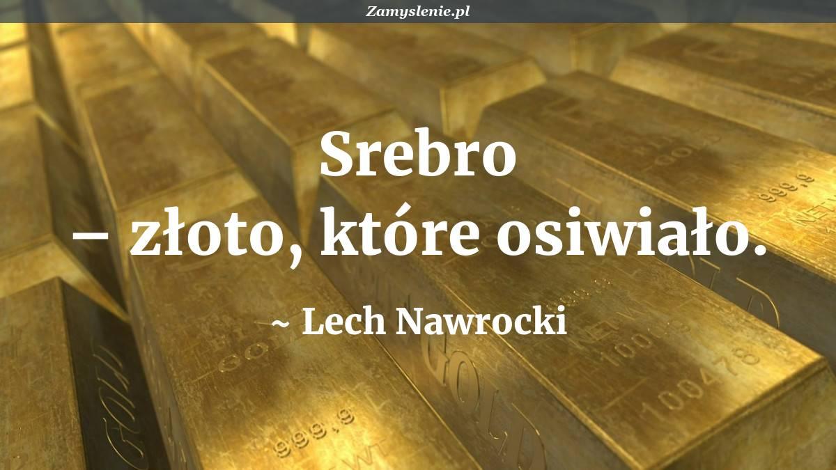 Obraz / mem do cytatu: Srebro – złoto, które osiwiało.