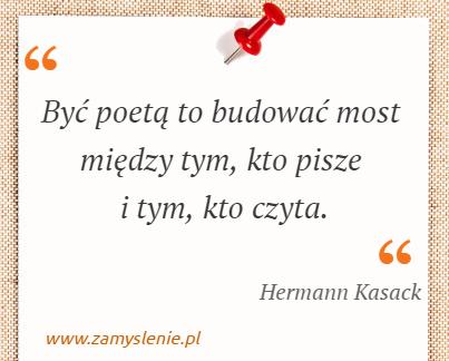 Obraz / mem do cytatu: Być poetą to budować most między tym, kto pisze i tym, kto czyta.