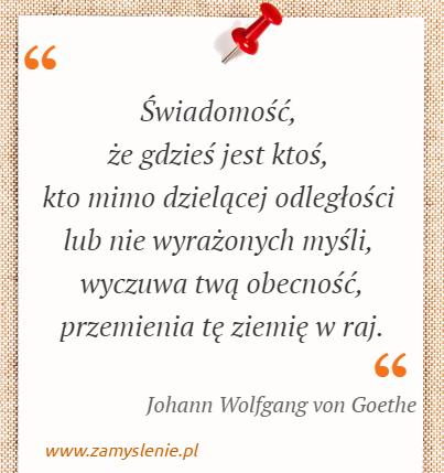 Johann Wolfgang Von Goethe Cytaty Tego Autora Zamysleniepl