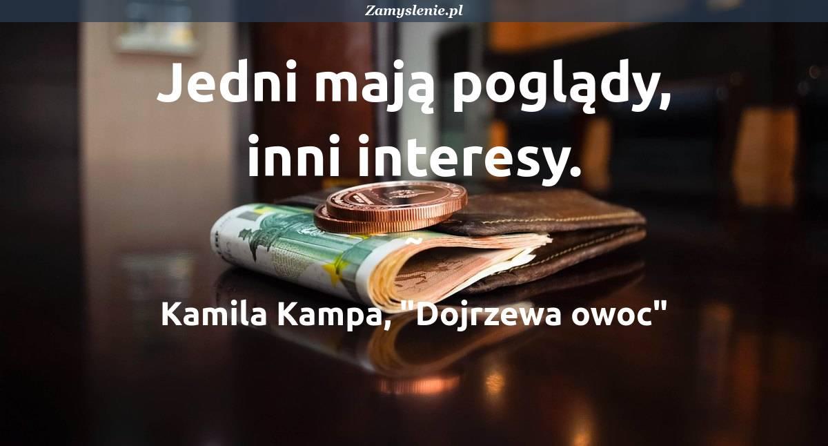 Obraz / mem do cytatu: Jedni mają poglądy, inni interesy.