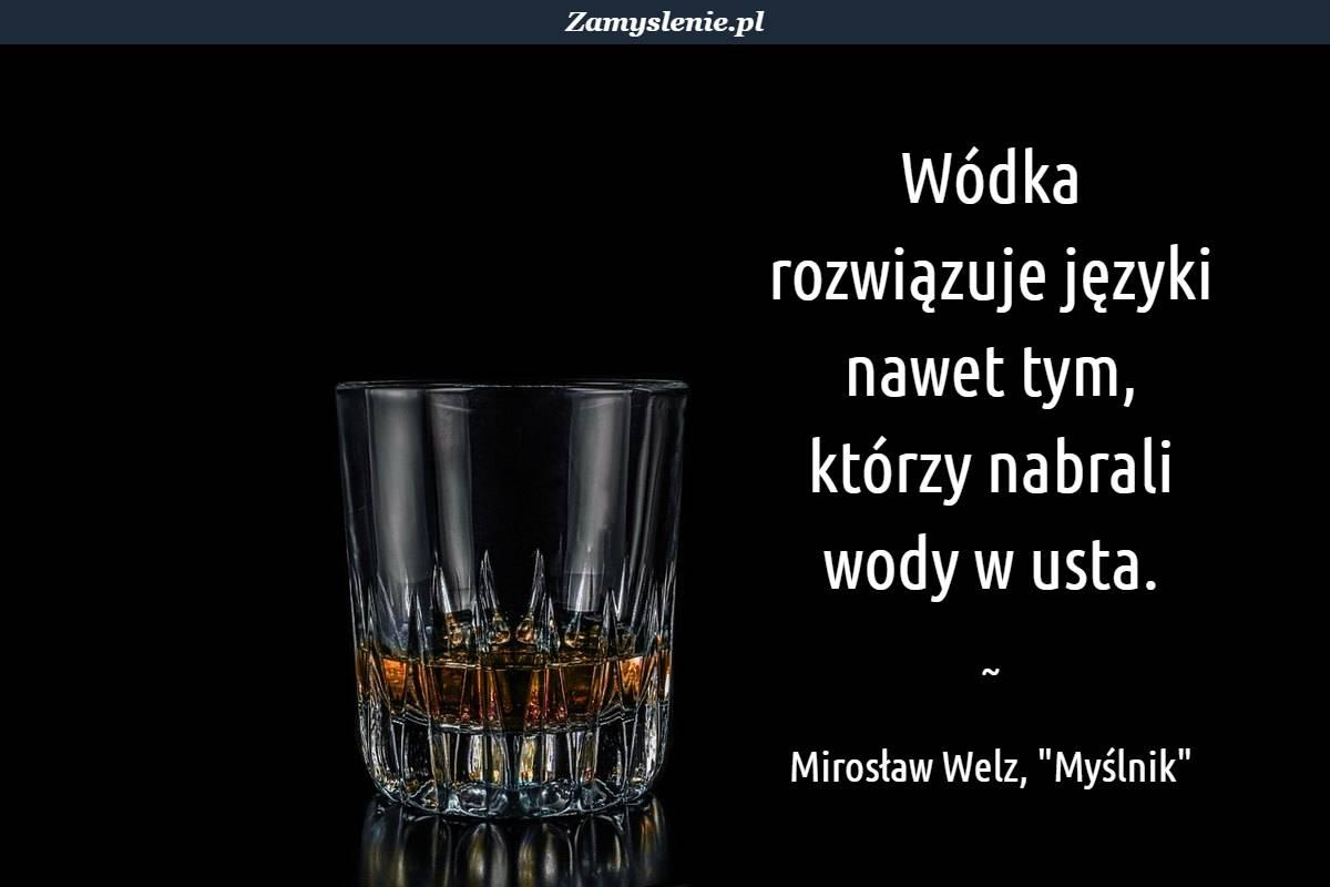 Obraz / mem do cytatu: Wódka rozwiązuje języki nawet tym, którzy nabrali wody w usta.